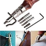 valink 5-in-1Lederwaren-Werkzeug, Kantenzieher, Kantennäher, Leder-Näh-Werkzeug