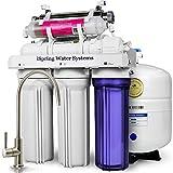 iSpring 75GPD Sistema Filtrazione Acqua 7 Fasi a Osmosi Inversa RO Alcalina Ultravioletto UV, Modello RCC7AK-UV immagine