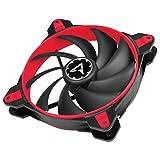 ARCTIC BioniX F140 - 140 mm Gaming Gehäuselüfter mit PWM PST | Case Fan mit PST-Anschluss (PWM Sharing Technology) | Reguliert RPM synchron - Rot
