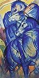 Artland Qualitätsbilder I Poster Kunstdruck Bilder 40 x 80 cm Tiere Haustiere Pferd Malerei Blau A2EB Turm der Blauen Pferde