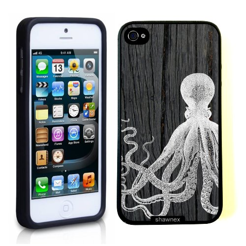 Iphone 5 Case Thinshell Case Protective Iphone 5 Case Shawnex Octopus On Dark Wood