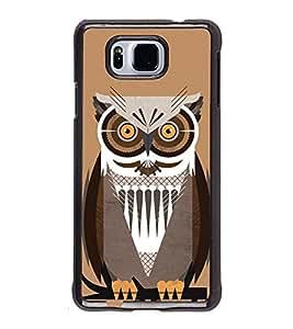 PrintVisa Horny Eyed Owl High Gloss Designer Back Case Cover for Samsung Galaxy Alpha :: Samsung Galaxy Alpha S801 :: Samsung Galaxy Alpha G850F G850T G850M G850FQ G850Y G850A G850W G8508S :: Samsung Galaxy Alfa
