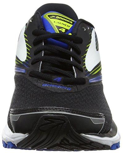 Brooks Launch 4, Chaussures de Course Homme Multicolore (Black/lapisblue/limepopsicle)