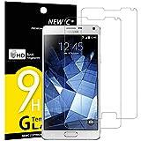 Panzerglas Samsung Galaxy Note 4, [2 Stück] NEWC® HD Display 9H Härte, Frei von Kratzern Fingabdrücken und Öl, 0.33mm Ultra-klar, panzerglas schutzfolie für Samsung Note 4