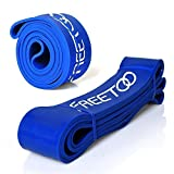 FREETOO Resistance Bands Workout Bands Stretch Exercise Pull up Rubber Bands for Men Women Workout at Home Gym (Blue)