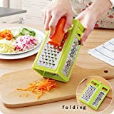 Best Box Graters - HOMIZE Folding Box Grater 4-Sided Stainless Steel Blades Review