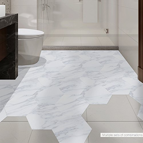 Haupteingang ((20 Stücke) wasserdichte Badezimmer-Bodenfliese-Aufkleber-Aufkleber-PVC-Marmorboden-Aufkleber-Aufkleber Beleg-Haupteingangs-Dekoration)