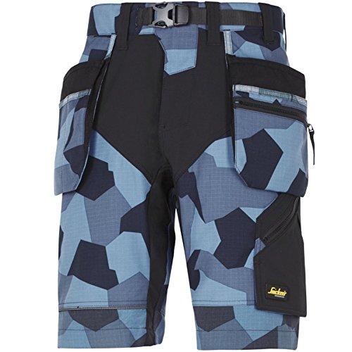 snickers-69048604064-tamano-64-flexiwork-pantalones-cortos-de-diseno-de-camuflaje-azul-marino-negro