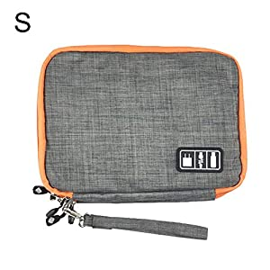 Juuizhe Elektronik-Zubehör-Organizer-Tasche, doppelschichtige Reisetasche für Kabel, Mobile Stromversorgung, Kopfhörer…