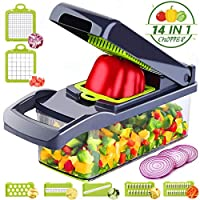 Caannasweis Vegetable Chopper,Mandoline Slicer,8 in 1 kitchen tools for Onion,Potato,Veggie,Fruit,French Fry Cutter,Dicer