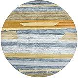 AXIANQIMat Tapis De Yoga Rond Tapis De Yoga Maison Salon Chambre Mince Tapis (Color : 2, Size : 2m)