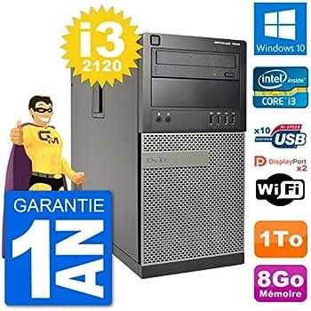 Dell PC Tour 7010 - Disco Duro (Intel Core i3-2120 de 8 GB, 1 TB ...