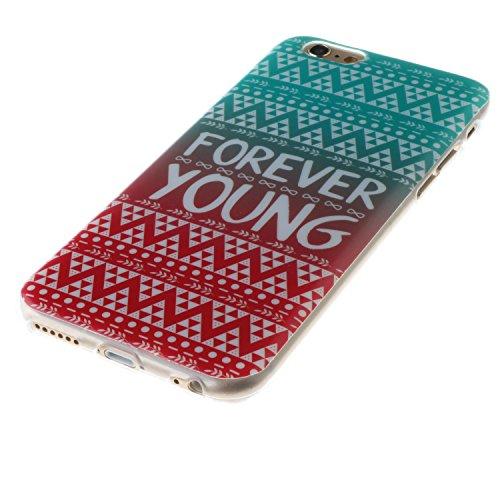 """iPhone 6s Plus Coque, MOONCASE iPhone 6 Plus Cover Case Fit Soft Silicone Housse avec Coque de Protection en TPU Etui pour iPhone 6 Plus(2014) / 6s Plus(2015) 5.5"""" - DD09 Série Colore - DD05"""