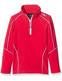 CMP Camiseta técnica de esquí para chico, niño, Funktionsshirt Ski, rojo (ferrari), 17 años (176 cm)