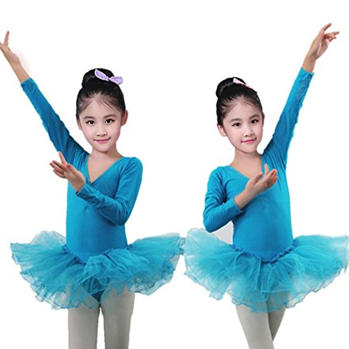 aze Trikots Tops Body Dancewear Kleid Kleidung Mädchen Outfits (24M, Blau) (Converse Kleinkind, Größe 5)