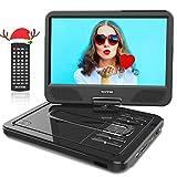 WONNIE 12' Reproductor de DVD Portátil con Pantalla Giratoria para Coche Soporte SD/USB/CD/DVD/MP3/JPEG 4...