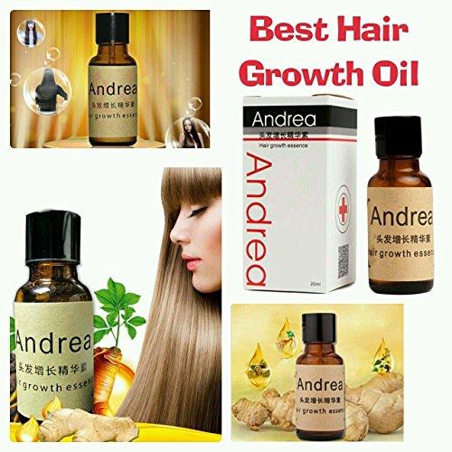 Andrea 20ml rápido crecimiento del cabello alopecia esencia 20ml pérdida de cabello líquido Ginger champú para Sunburst Yuda aceite de crecimiento del pelo Pilatory