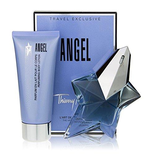 Thierry mugler, profumo da donna angel set regalo: eau de parfum 50 ml + lozione per il corpo 100 ml