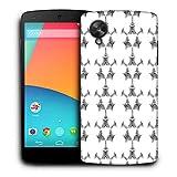 Snoogg Pequeño Robot blanco funda protectora teléfono Carcasa trasera para LG Nexus 5