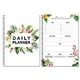 Flamingo Tagesplaner 2018 2019 ohne festes Datum/für über 50 Tage/Kalender 2019 / Tischkalender/To Do Liste/Tagesplaner im Hoch-Format/Terminplaner /
