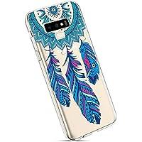 YSIMEE para Fundas Samsung Galaxy Note 9 Estuches,Xmas Decoración Fundas Transparente Silicona Suave Ultra Fina Delgado Gel Bumper TPU Goma Protectora Carcasas-Blue Dream Catcher
