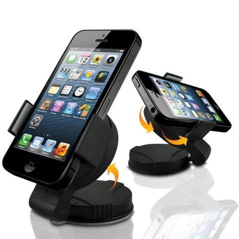 Preisvergleich Produktbild C63 ® Motorola Moto E Universal 360 Kfz-Saugnapfhalterung für die Windschutzscheibe oder Armaturenbrett