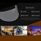 Destino Casco de la Motocicleta Lente Película antiniebla, Visera Transparente Universal Pegatinas de Lentes Gafas Adhesivas Película Antivaho, Pegatinas Protectoras Impermeables para Casco de Moto