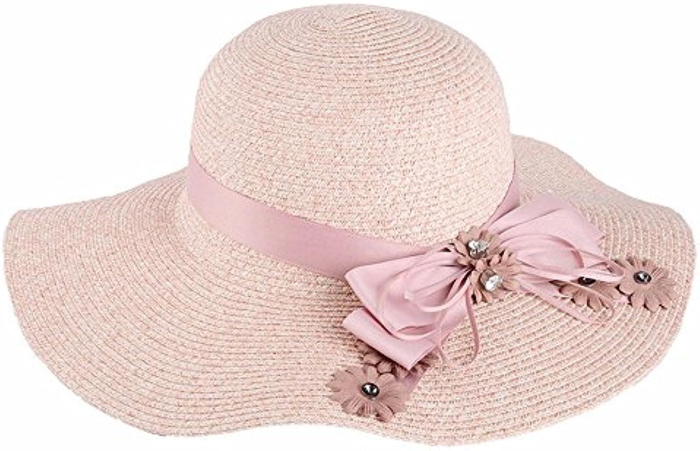 YMFIE Signora Spiaggia Piegatura di Piegatura Spiaggia Hat Lato Ampio  Appartamento Sun Hat Estate Filtro Solare UV Tour Leisure Sun... Parent  15da66 8ef860a0bc8e
