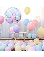GrandShop 50753 Pastel Colored Balloons Macaron Party Decorations Pack of 50 Pcs