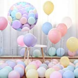GRAND SHOP 50753 Pastel Colored Balloons Macaron Party Decorations Pack of 50 Pcs