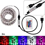 samLIKE 50 CM USB LED Streifen Licht TV Zurück Lampe 5050RGB Farbwechsel + Fernbedienung (C)
