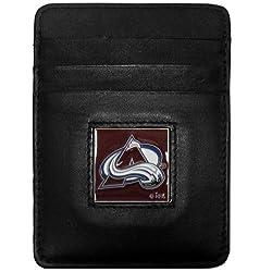 NHL Colorado Avalanche Genuine Leather Money Clip/Cardholder Wallet