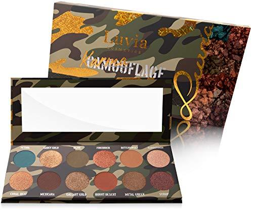 Luvia Lidschatten Palette Glitzer, Schimmer & Matt - Karmaflage Make-Up - Inkl. 12 natürlichen Farben - Limitierte Geschenkbox zum Valentinstag