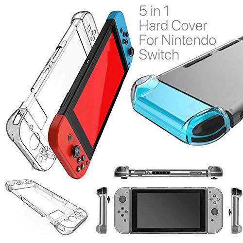 HOUSON Nintendo Switch Case Cover, Transparent Case Schutzhülle Stoßdämpfung und Anti-Scratch Passt Nintendo Switch Tasche für Nintendo Switch Konsole und Controller Hartschale - Controller Crystal Case