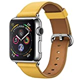 Bracelets de Montre en Cuir pour Apple Watch série 4 40MM Montres Hommes Soldes