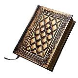TINKSKY Notizbuch Tagebuch mit Schloss Tagebücher Notizbücher Travel Journal Notebook(Bronze)