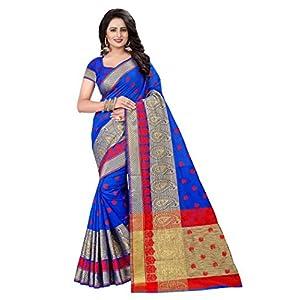 Ecolors Fab Women's Cotton Silk Saree With Unstitched Blouse Piece