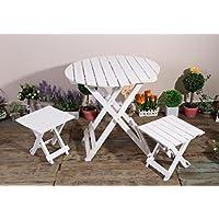 New day®-Paese retrò sedie pieghevoli vecchi e tavoli al coperto fioriere Sedia da giardino verde fiore carnoso tavolo 30X30X30.5CM