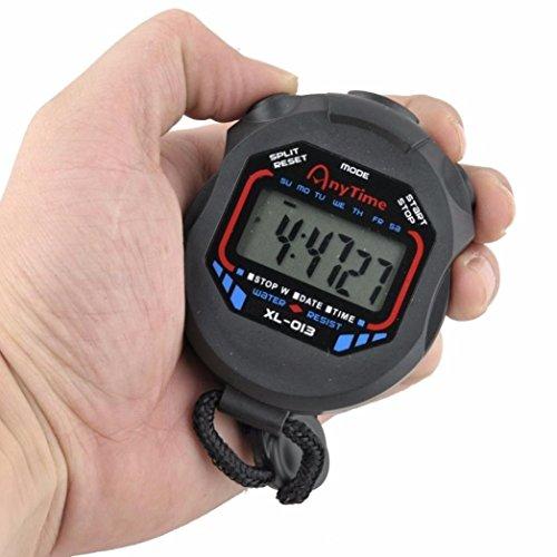 bobo4818 Stoppuhr Sport, Digital Handheld LCD-Chronograph Wasserdicht Stoppuhr Wasserdichte Sportuhr mit Alarmfunk (Timex Uhr Mechanische)