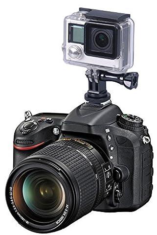 Smatree complet trépied en aluminium Vis à SLR flash de l'appareil photo  Hot Shoe Mount Adapter pour GoPro Hero 5, 4, session, 3+, 3, 2, 1