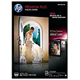 HP Premium Plus CR672A- Papel fotográfico satinado (20 hojas, A4)