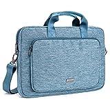 Evecase 17 - 17.3 Pollici Messenger Borsa Custodia in Nylon con manici per laptop, Notebook, Portatile da 17 - 17.3 Pollici- Blu - Evecase - amazon.it