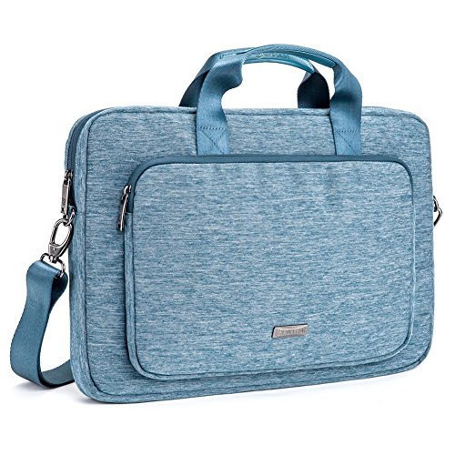 Evecase 17 - 17.3 Pollici Messenger Borsa Custodia in Nylon con manici per laptop, Notebook, Portatile da 17 - 17.3 Pollici- Blu
