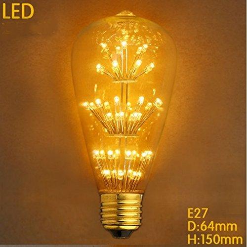4 Packung Vintage Beleuchtung, VSOAIR LED-Birnen mit 3W ST64 Weinlese-Edison-Feuerwerk-dimmable Birnen-Beleuchtung-warmem Weiß 2200K