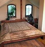 Brokat / Samt Steppdecke, Bettüberwurf - beige / Steppdecken, Quilts