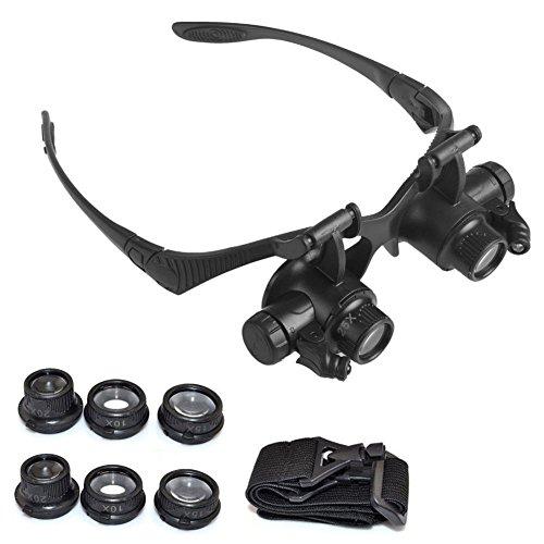 Wildlead 8 Objektiv Lupe Vergrößern Augenglas Lupe Juwelier Uhr Reparatur mit LED Licht