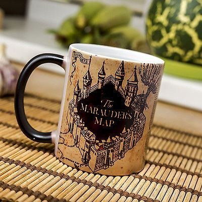 Harry Potter Mug || Harry Potter Marauders Map Magic Mug colour changing Mug || Heat activation reveals hidden image  available at amazon for Rs.290