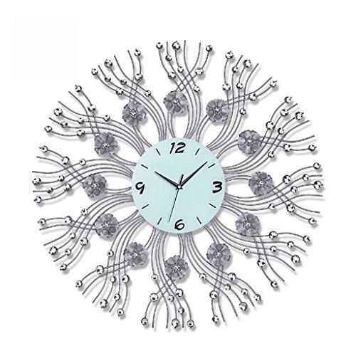 Unbekannt Iron Ultra-Quiet Creative Uhren Wohnzimmer Wanduhr Moderne Minimalistische Kreative Uhr Gartenuhr