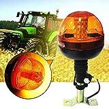 Teabelle 40 LED de Advertencia de Emergencia Flash Estroboscópico Rotativo Baliza Tractor Luz Motor ámbar