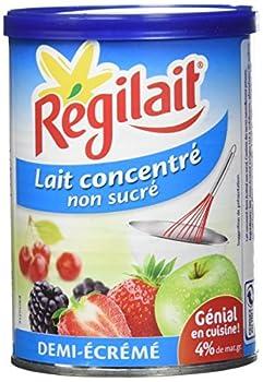 Régilait Lait Concentré Non Sucré Boîte Demi-Écrémé 3 x 410 g - Lot de 2